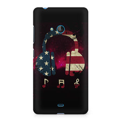 America tunes Pink sprayed Nokia Lumia 540 printed back cover