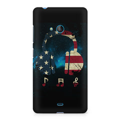 America tunes Blue sprayed Nokia Lumia 540 printed back cover