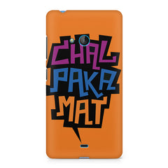 Chal Paka Mat Funny Hindi Desi Quotes design, Nokia Lumia 535 printed back cover