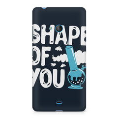 Shape of You Bong design, Nokia Lumia 535 printed back cover