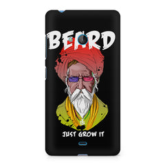 Beard Just Grow It design, Nokia Lumia 535 printed back cover