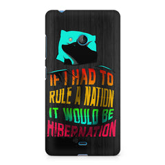 Sleep Lovers Quotes design, Nokia Lumia 535 printed back cover