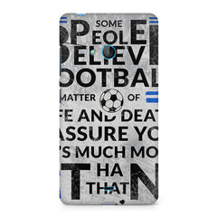 True Footballer Lover Quote design, Nokia Lumia 535 printed back cover