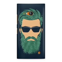 Beard guy with goggle sketch design Nokia Lumia 730 printed back cover