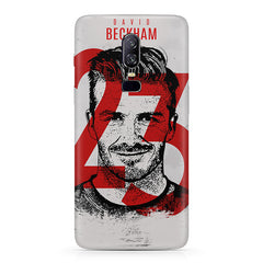 David Beckhan 23 Real Madrid design,   Oneplus 6(Six) hard plastic all side printed back cover.