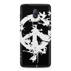 Let there be peace design  Oneplus 6(Six) hard plastic all side printed back cover.