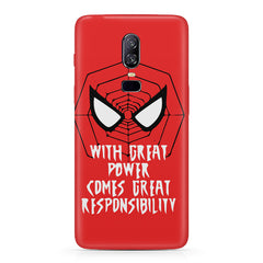 Spider man design  Oneplus 6(Six) hard plastic all side printed back cover.