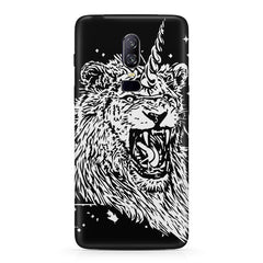 Furious unicorn design  Oneplus 6(Six) hard plastic all side printed back cover.