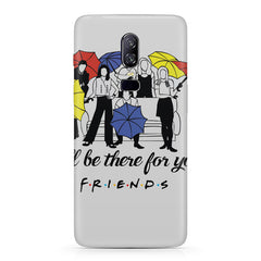 F.R.I.E.N.D.S. design  Oneplus 6(Six) hard plastic all side printed back cover.