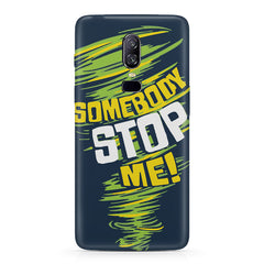 Be Unstoppable design  Oneplus 6(Six) hard plastic all side printed back cover.
