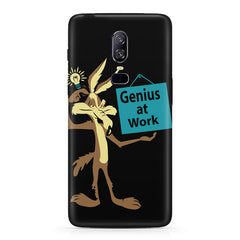 Genius at work design  Oneplus 6(Six) hard plastic all side printed back cover.