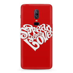 Spread some love design  Oneplus 6(Six) hard plastic all side printed back cover.