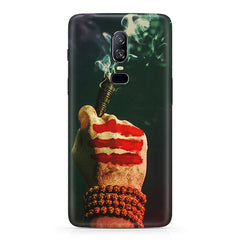 Smoke weed (chillam) design  Oneplus 6(Six) hard plastic all side printed back cover.