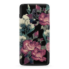 Abstract colorful flower design  Oneplus 6(Six) hard plastic all side printed back cover.