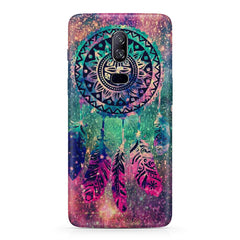 Dream catcher in the Galaxy design/colorful design  Oneplus 6(Six) hard plastic all side printed back cover.
