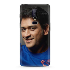 M.S. Dhoni Selfie Portrait look design   Oneplus 6(Six) hard plastic all side printed back cover.