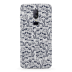Cute Pandas all over the cover design Oneplus 6 all side printed hard back cover by Motivate box Oneplus 6 hard plastic printed back cover.