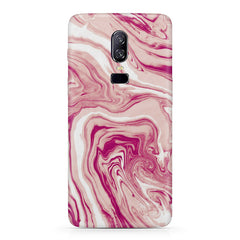 Pink marble texture design Oneplus 6 all side printed hard back cover by Motivate box Oneplus 6 hard plastic printed back cover.