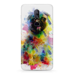 Colours splashed pug Oneplus 6 all side printed hard back cover by Motivate box Oneplus 6 hard plastic printed back cover.