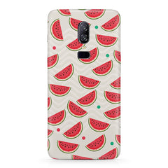 Water melon pattern design Oneplus 6 all side printed hard back cover by Motivate box Oneplus 6 hard plastic printed back cover.