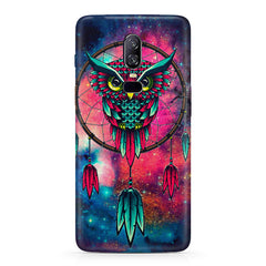 Good luck Owl sketch design Oneplus 6 all side printed hard back cover by Motivate box Oneplus 6 hard plastic printed back cover.