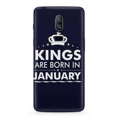 Kings are born in January design Oneplus 6 all side printed hard back cover by Motivate box Oneplus 6 hard plastic printed back cover.