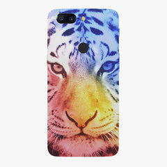 Colourful Tiger Design Oneplus 5T hard plastic all side printed back cover.