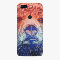 Zoomed Bear Design Oneplus 5T hard plastic all side printed back cover.