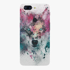 Splashed colours Wolf Design Oneplus 5T hard plastic all side printed back cover.
