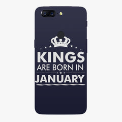 Kings are born in January design    Oneplus 5T hard plastic printed back cover