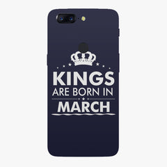 Kings are born in March design all side printed hard back cover by Motivate box Oneplus 5T hard plastic all side printed back cover.