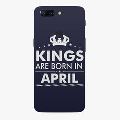 Kings are born in April design all side printed hard back cover by Motivate box Oneplus 5T hard plastic all side printed back cover.