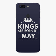 Kings are born in May design    Oneplus 5T hard plastic printed back cover
