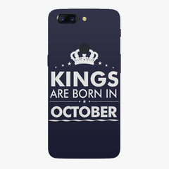 Kings are born in October design all side printed hard back cover by Motivate box Oneplus 5T hard plastic all side printed back cover.