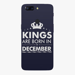 Kings are born in December design all side printed hard back cover by Motivate box Oneplus 5T hard plastic all side printed back cover.