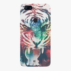 Tiger with a ferocious look Oneplus 5T hard plastic all side printed back cover.