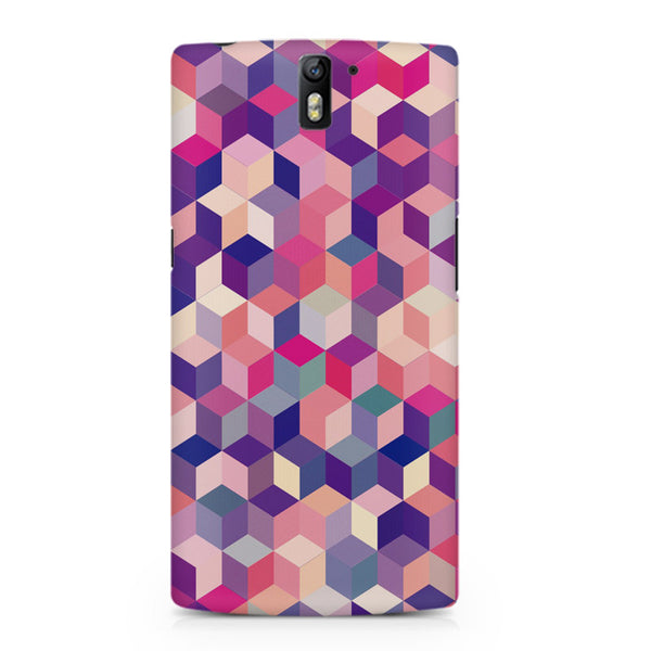 3D Colorful shapes Oneplus One printed back cover