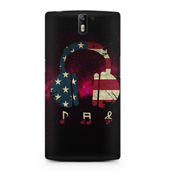 America tunes Pink sprayed OnePlus One printed back cover