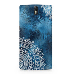 A Vivid Blue ethnic yet cool pattern OnePlus One hard plastic printed back cover