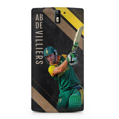 Ab De Villiers the Batting pose    OnePlus One hard plastic printed back cover