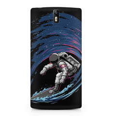 Astronaut space surfing design    OnePlus One hard plastic printed back cover