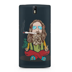 Baba Smoking Cigar design OnePlus One hard plastic printed back cover