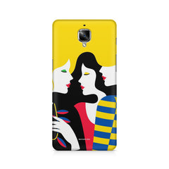 Gorgeous Girls Pop Art Neon Retro OnePlus 3/3T printed back cover