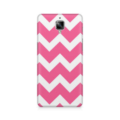 Zig Zag Pink Lines Design Pattern OnePlus 3/3T printed back cover