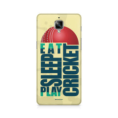 Eat Sleep Play Cricket For Cricket Fans OnePlus 3/3T printed back cover