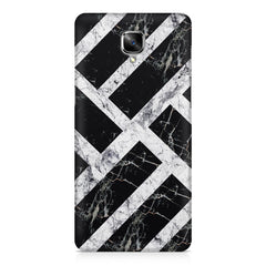 Black & white rectangula bar OnePlus 3/3T printed back cover