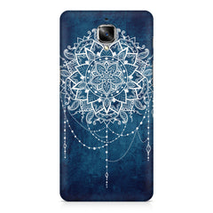 Ethnic design on blue pattern OnePlus 3/3T printed back cover