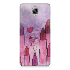 Girl with lipsticks sketch design OnePlus 3/3T printed back cover
