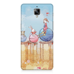 Woollen ball ride sketch design OnePlus 3/3T printed back cover