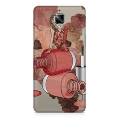 Girl on nail paints sketch design OnePlus 3/3T printed back cover